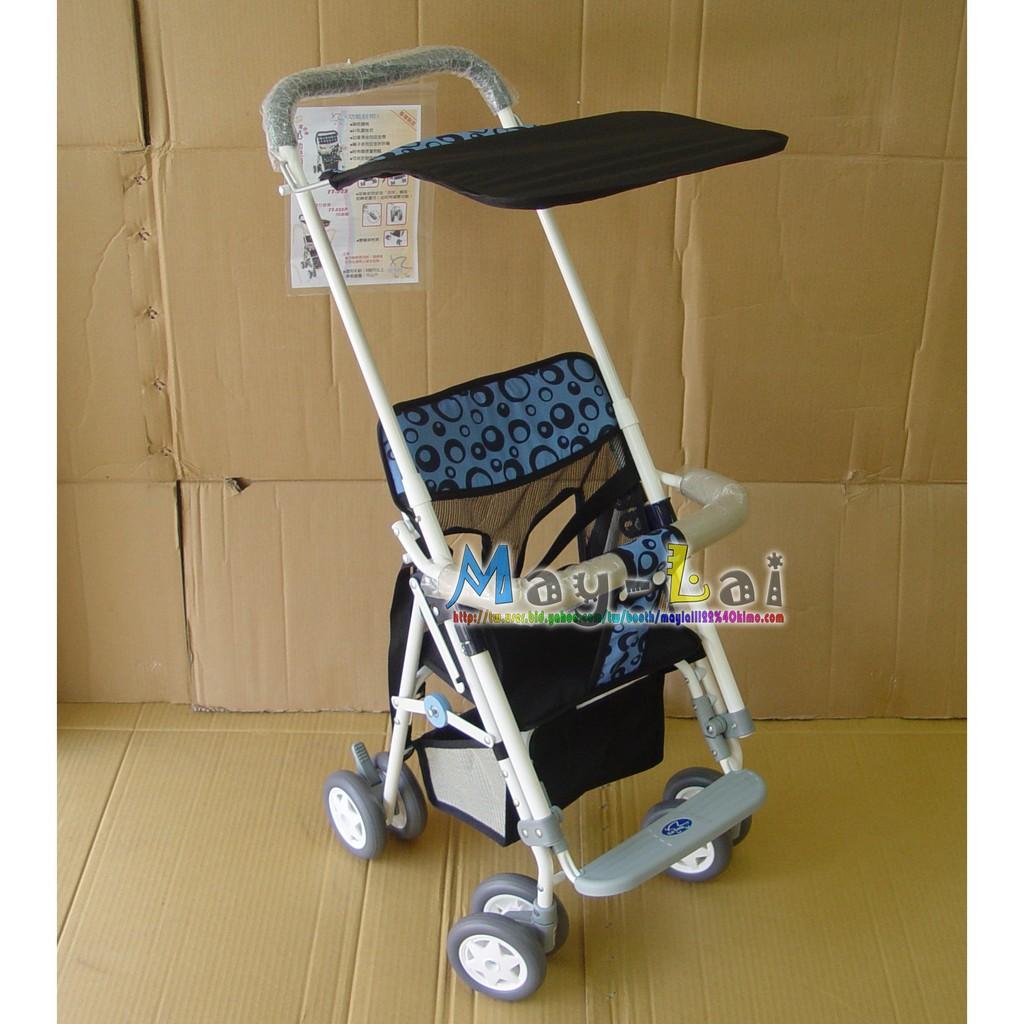 ♡美來♡ 製 小型機車多 可推式機車椅機車推椅推車輕便推車兒童推車附遮楊棚置物藍滾珠軸乘