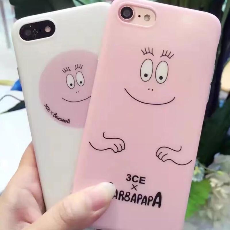 韓國卡通笑臉iphone6 6s 手機殼蘋果plus 保護套笑臉粉紅泡泡先生矽膠保護套3c