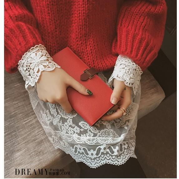 ❤ ❤2016  韓範蕾絲鏤空打底衫性感修身顯瘦學生長袖純色連衣裙