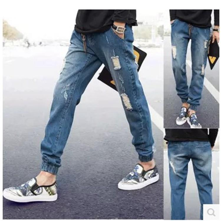 NA3 大 縮口褲情人節 破洞男生牛仔褲丹寧褲
