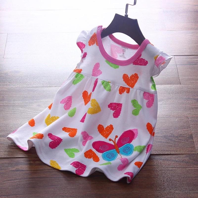 0 12 個月小女孩背心裙寶寶裙嬰兒裙子夏裝純棉吊帶裙