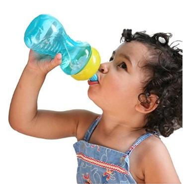 美國Nuby 防漏炫彩吸管水杯10 盎司BPA free