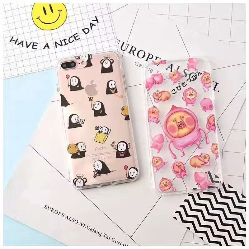iphone7 Iphone6 6s plus 無臉男屁桃空壓殼軟邊手機殼( )