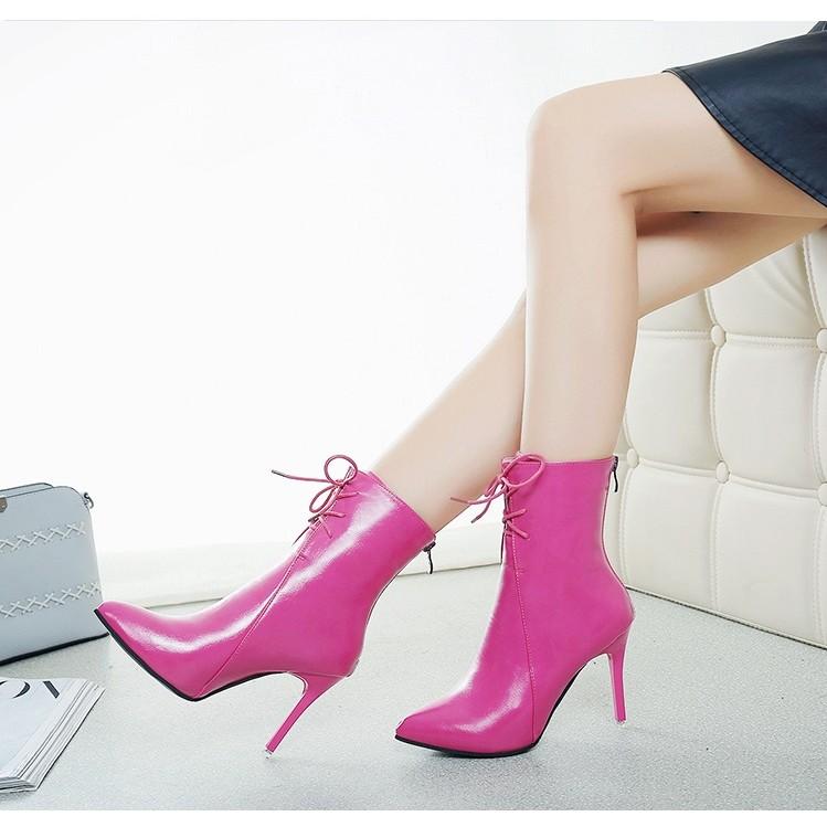 秋 加棉馬丁靴女英倫風高跟細跟短靴棉鞋中筒靴騎士靴女靴