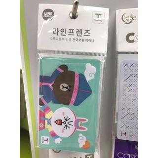 ~韓國連線 ~韓國LINE FRIENDS T MONEY 交通卡熊大兔兔限定版搭地鐵用韓