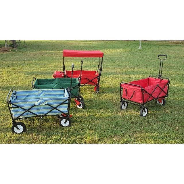 附剎車輪美式多 推車拖車露營野餐摺疊推車布可拆洗