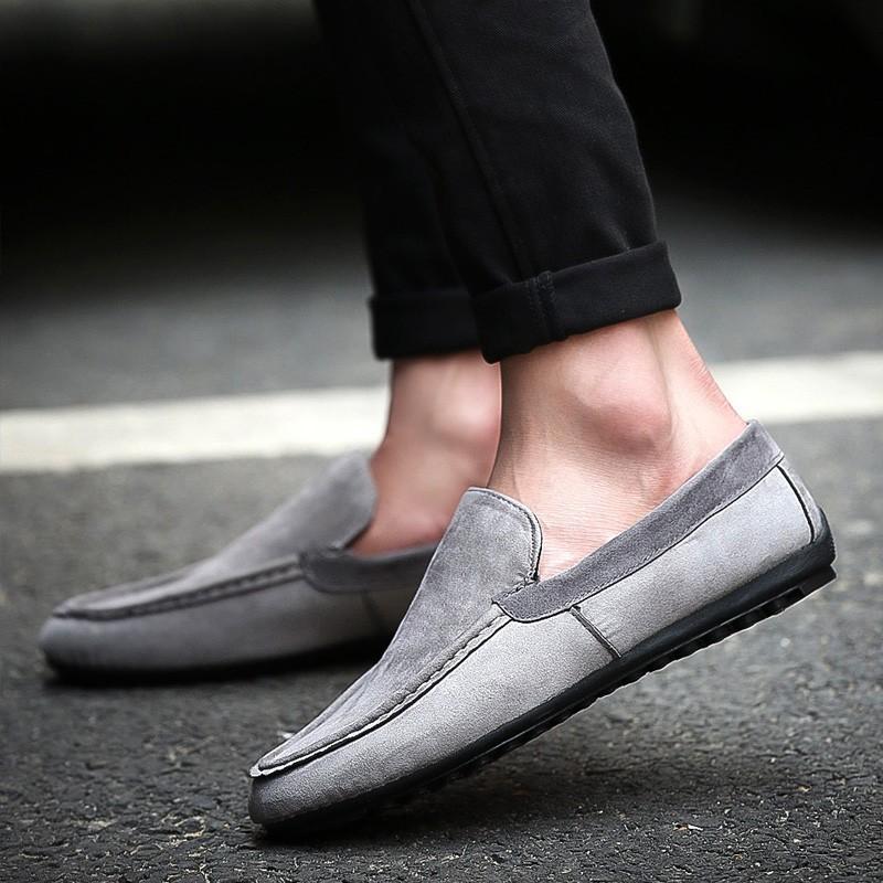 ~酷我 ~夏天 潮流男鞋子一腳蹬懶人蹬 透氣男士休閒豆豆鞋青年潮鞋