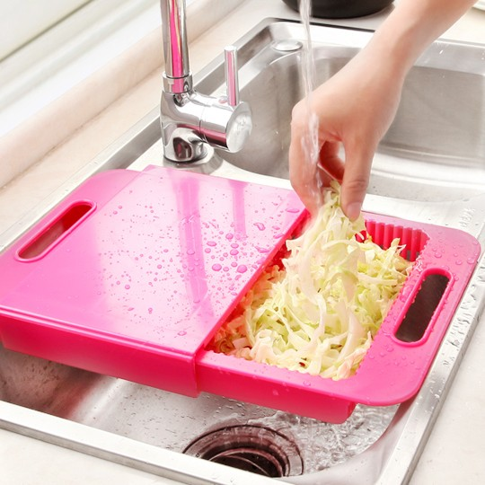 伊觸園廚房水槽板切菜板砧板案板小塑料菜板水果切板抗菌粘板刀板