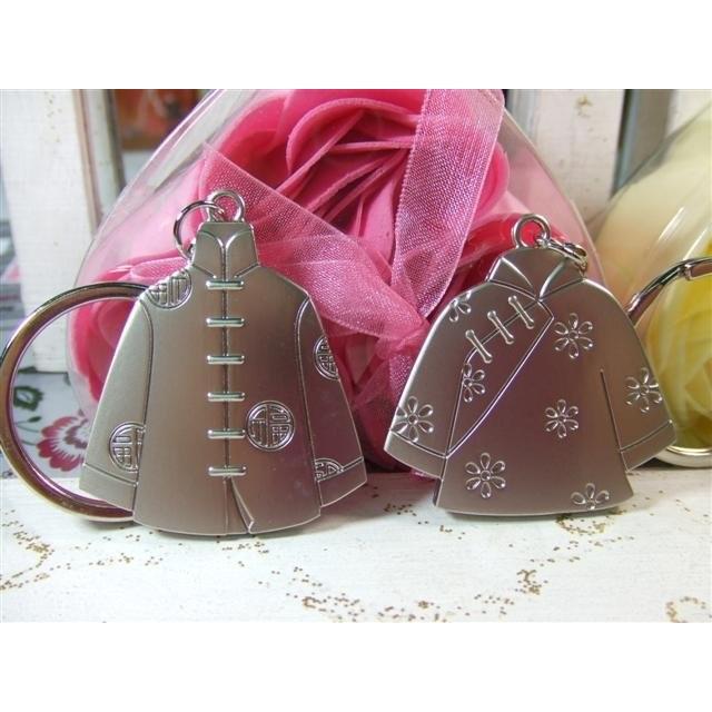 情侶鑰匙扣唐裝鑰匙圈 可愛金屬鑰匙圈  飾品