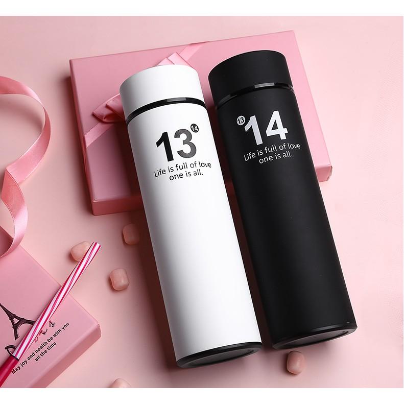 光一1314 情侣保温杯一对男女刻字简约学生水杯韩国创意直身杯子瓶