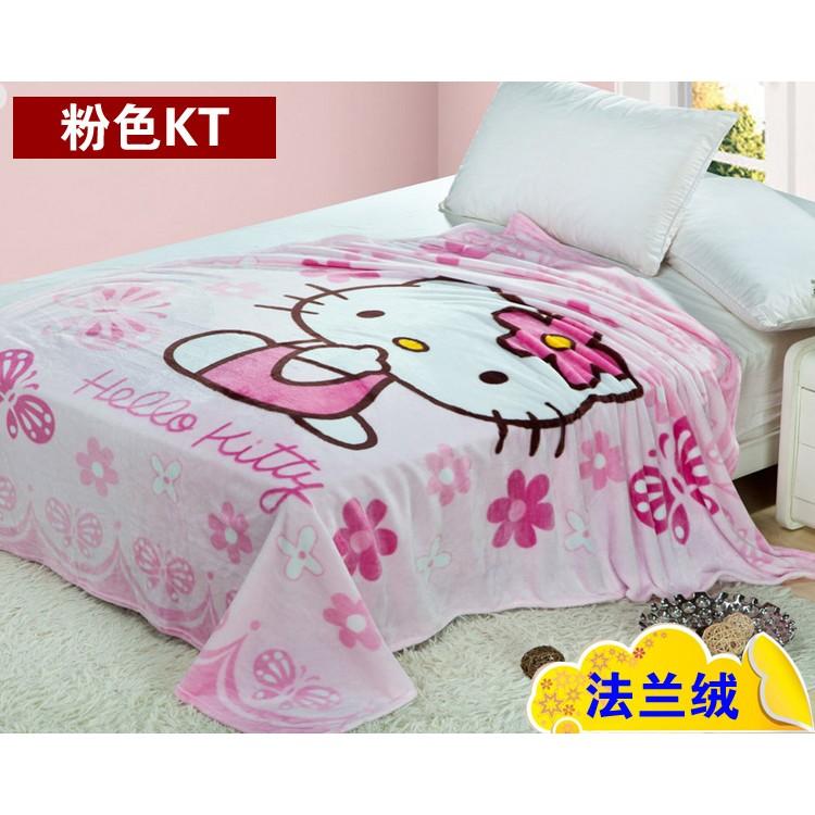 ~哈魯眉小舖~ 3 Hello Kitty 卡通珊瑚絨毯法蘭絨空調小毛毯70 100CM