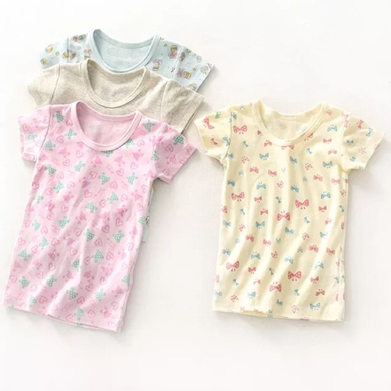 ⛱ ⛱千趣會女童純棉螺紋短袖睡衣家居服外貿原單