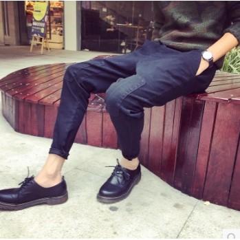 GD 權志龍同款低幫鞋 馬丁靴皮鞋休閒英倫皮靴春 潮男鞋短靴