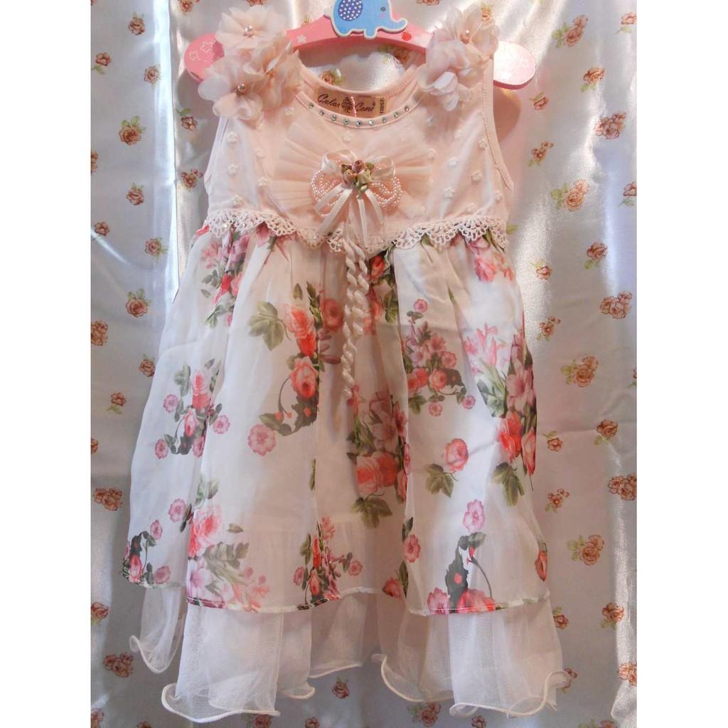 挑戰最底價小花童畢業季喜宴小禮服表演 典雅粉紅蕾絲小洋裝