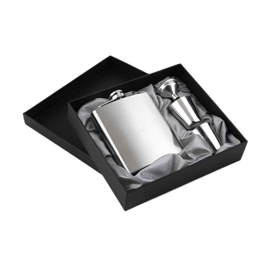 304 不銹鋼腰壺水壺酒瓶7 盎司隨身小酒壺加厚不鏽鋼壺烈酒壺4 件套