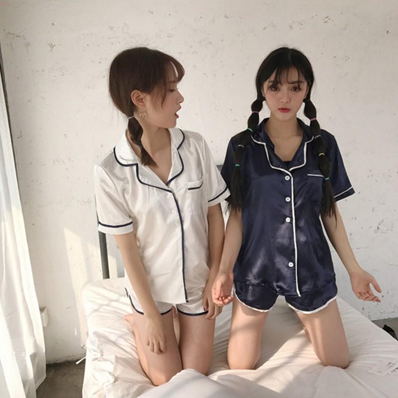 ~大量 ~YOYO 實拍睡衣女兩件套 短褲短袖家居服