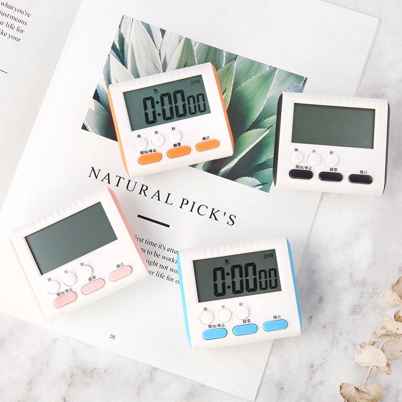 ⚡下殺價⚡ 廚房烹飪 計時器 鬧鐘 倒計時 帶磁鐵 電子鬧鐘 學習計時器