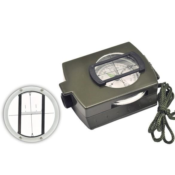 360 Lensatic 鏡頭指南針軍事戶外野營徒步旅行