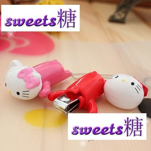 ~sweets 糖~kitty 凱蒂貓超可愛立體趴趴 指甲刀指甲剪