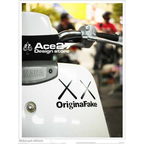ACE27 艾斯 汽機車貼紙original fake XX KAWS
