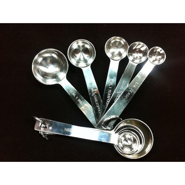 304 不銹鋼量匙5 入裝咖啡匙量匙湯匙調味匙