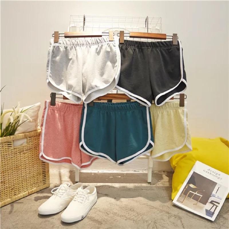韓國 短褲女夏寬松純棉高腰大碼顯瘦跑步休閒沙灘褲女瑜伽熱褲