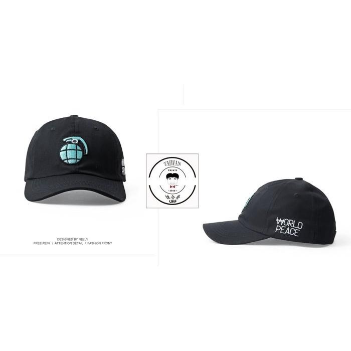 ~誰合普UHF ®~合作品 原宿 品炸彈刺繡SUP 老帽鴨舌帽棒球帽( 價$500 )