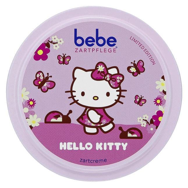 德風小舖德國嬌生bebe zartcreme Hello Kitty 版寶貝潤膚霜面霜柔膚