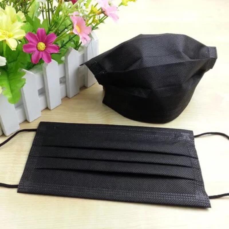獨立包裝搖滾黑三層黑口罩50 入周杰倫昆凌羅志祥明星最愛❤️