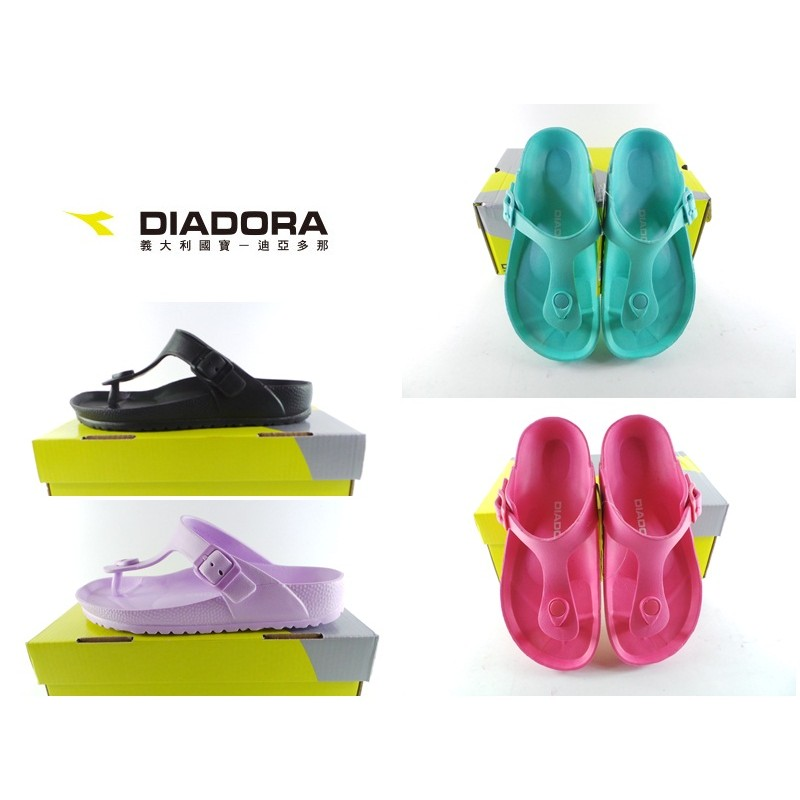 迪亞多那DIADORA 女款T字型輕量款迪亞多納夾腳拖鞋