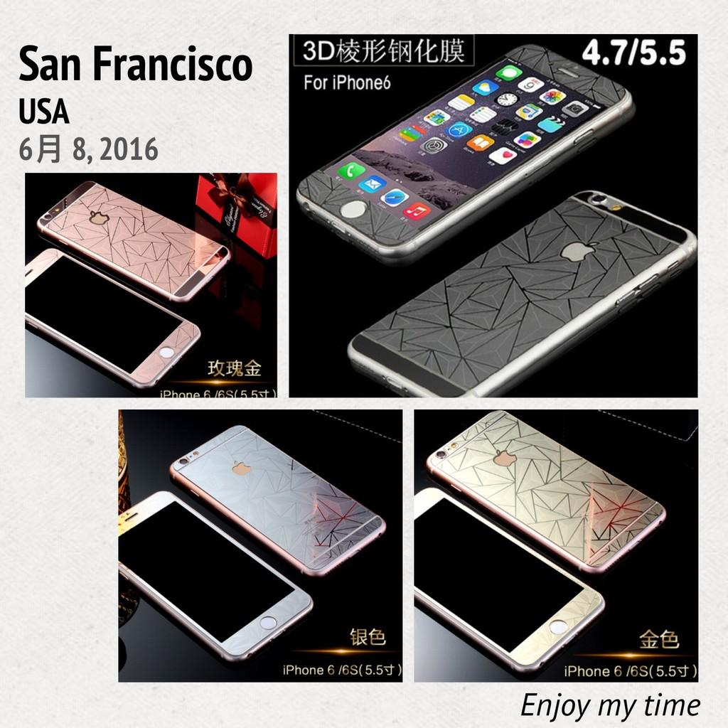 彩色電鍍菱格3D 浮雕iphone 5 5s se 6 6s plus 全滿版(正面背面)