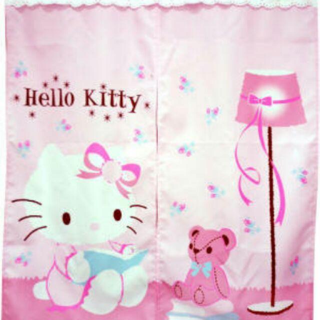 芊金小坊Hello Kitty 抱熊中門簾