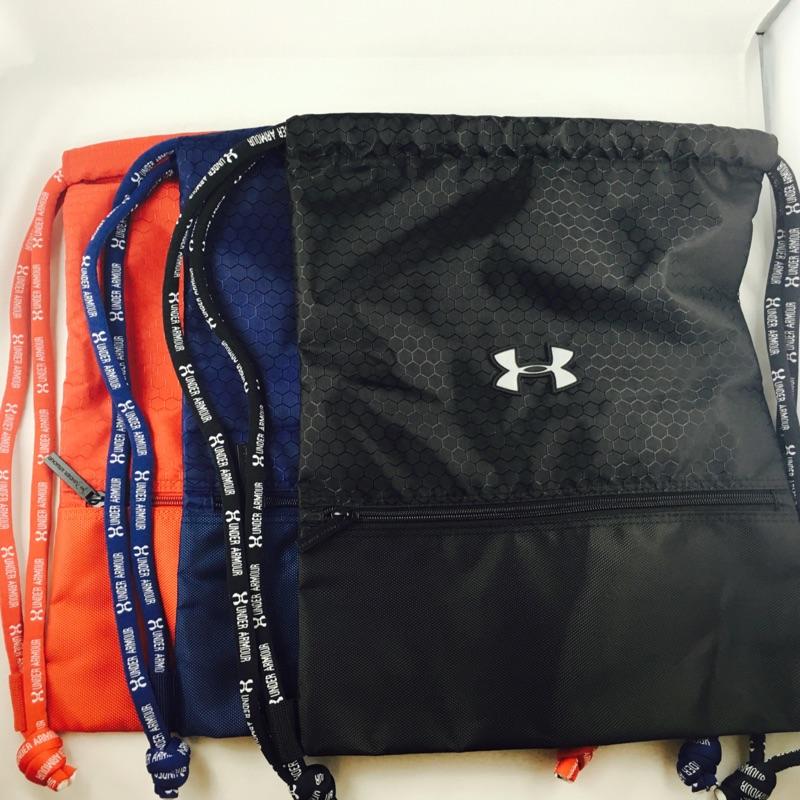 Under Armour UA 束口後背包防水透氣舒適背帶黑藍紅三色