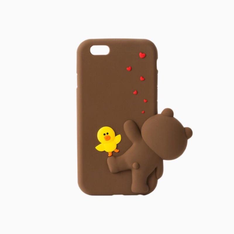 熊大莎莉矽膠軟殼iphone6 6s 趴趴熊大iphone6plus 熊大Line 矽膠軟