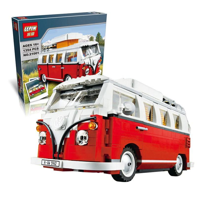 ~樂拼21001 T1 露營車~福斯 大眾房車絕版 復刻珍藏車系列非樂高樂拚LEGO 10