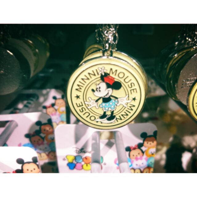 J2K  區 限定Disney Store 米奇米妮三眼怪維尼杯麵鑰匙圈鐵牌鑰匙圈