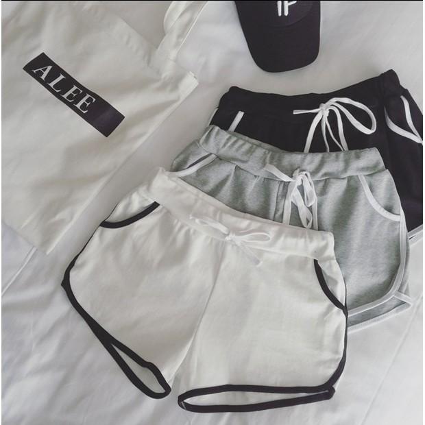 sofi shop 韓國 日系寬鬆休閒 系帶短褲三分褲3 色 滿1000  FB 按讚9