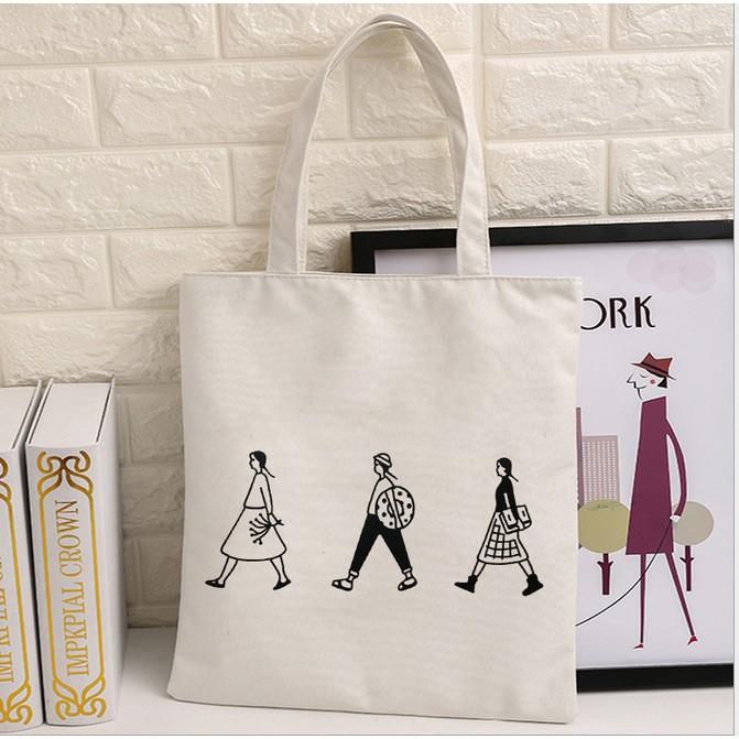 帆布包女包單肩手提簡約學生書包托特包大包 袋潮