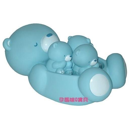 ~孕媽咪Q 寶貝~ 正品黃色小鴨、艾比熊家族水中有聲玩具組1 大3 小洗澡歡樂組88081