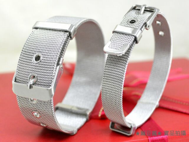 ~3ggg3 ~C942 ~粗細款皮帶扣鈦鋼手環~單條鋼錶帶可戴著洗澡皮帶頭情侶情人節中性
