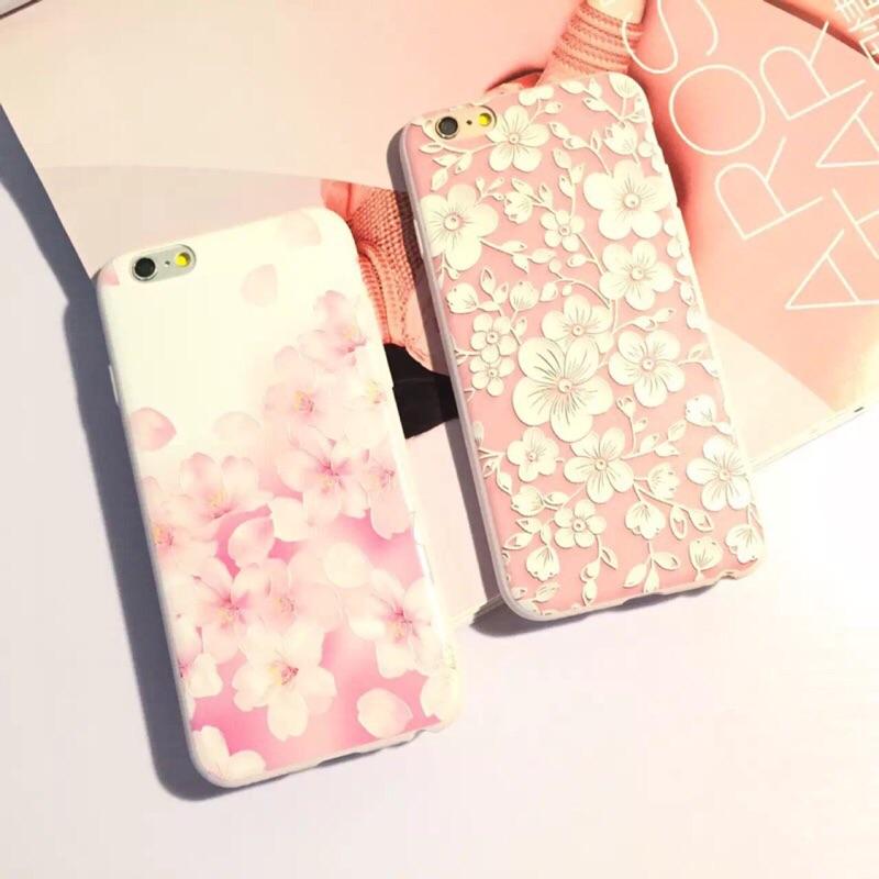 浮雕花朵蘋果iphone5 5s se 手機殼i6 6s4 7 全包軟殼i6p 6plup
