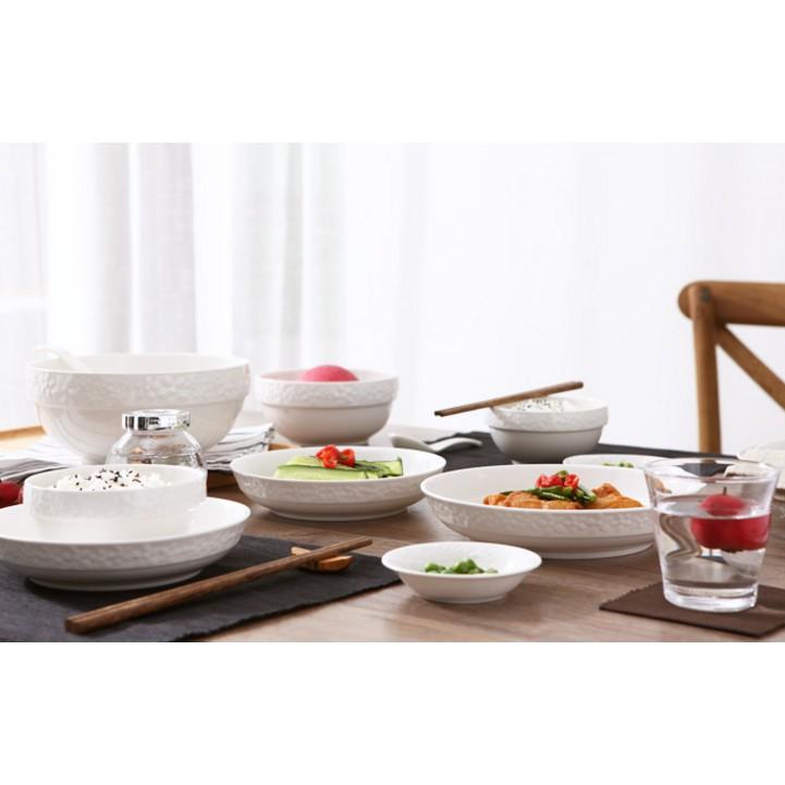 家用陶瓷餐具套裝碗盤餐具套裝碗盤家用碗碟套裝韓式中式碗筷16 頭