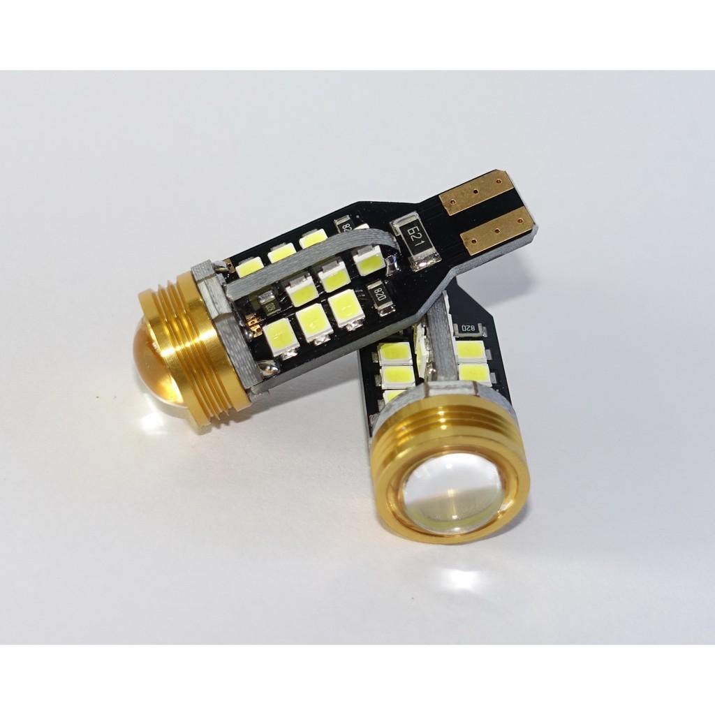 汽機車改裝 超亮爆亮款金色魚眼T15 倒車燈24 晶2835 1COB 大功率流氓燈帶解碼