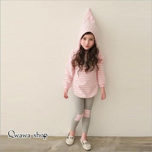 套裝 俏皮精靈連帽舒適套裝女童粉色