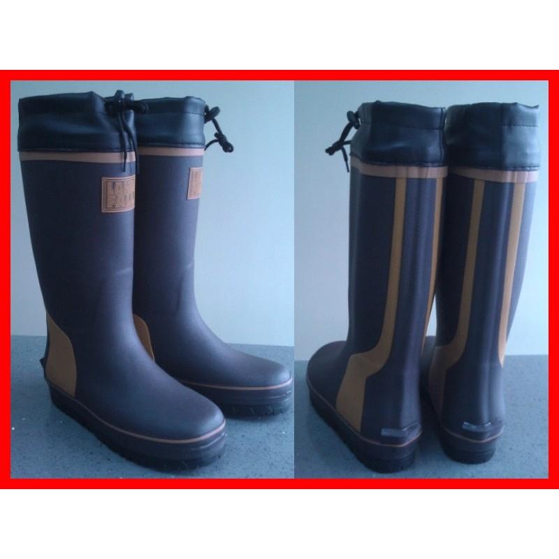 廠商直銷外銷 長筒雨鞋釣魚雨靴防滑雨鞋金鋼砂鞋底41 45 碼