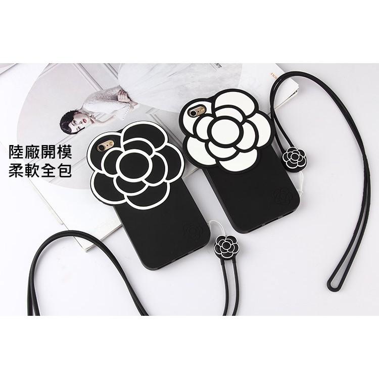 韓國iphone 7 6s 6 plus 黑白山茶花防摔軟殼手機殼小香風太陽花非硬殼全包保