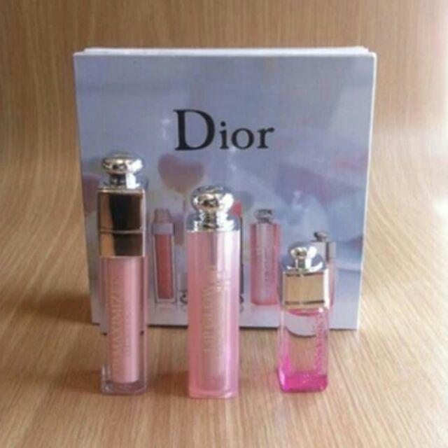 ( 中Dior Addict 三件套香水唇彩套裝