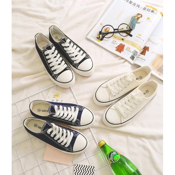 帆布鞋女生平底休閒鞋 學生百搭休閒鞋女鞋白色小白鞋