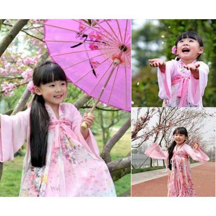 E039069 款 女童漢服櫻花小蘿莉同款古裝齊胸襦裙表演服