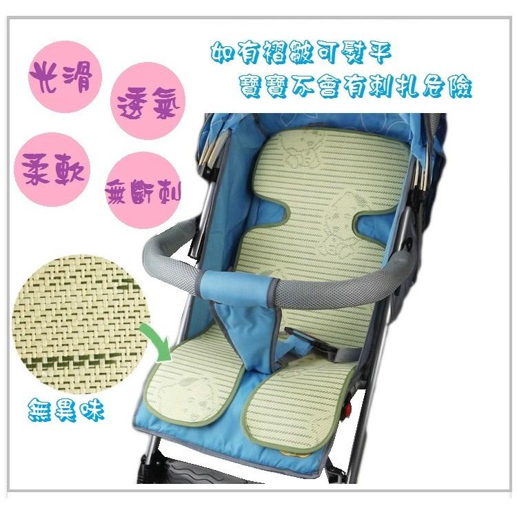 手推車涼蓆5 層純天然竹炭纖維亞麻草蓆亞麻涼蓆推車 涼蓆安全座椅涼蓆3D 網布透氣舒適易固